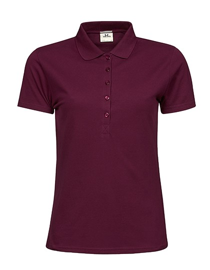 Damen Luxus-Stretch-Poloshirt